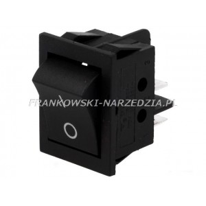 Wyłącznik klawiszowy IRS-2 łączenie ON-OFF, 15A /250V, CZARNY, wymiary otworu montażowego 22x31mm,