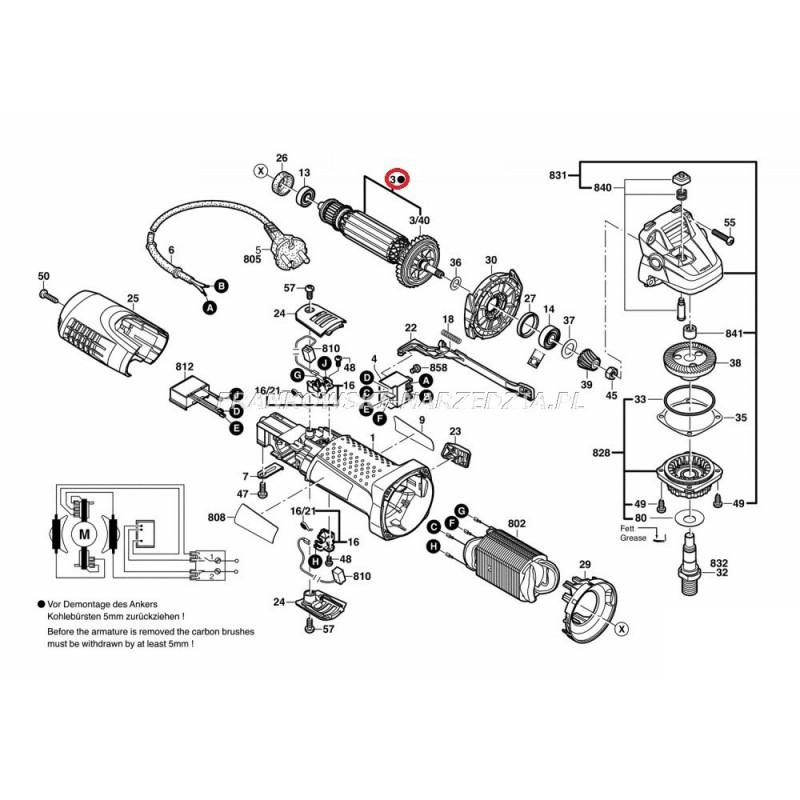 Bosch wirnik gws 7 125 gws 7 115 gef 7e gws 7 100 115 gws 720 oryginalny indeks 1619p05210 - Bosch gws 7 125 ...