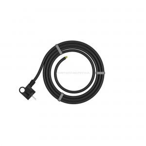 Przewód zasilający 3x1,5mm2, długość 3m, H05RR-F gumowy wtyczka kątowa