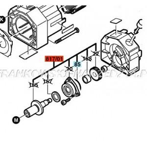 Bosch 1609203514 do GNF 45 CA ,Wrzeciono z kołem zębatym i tarczą łożyskową część oryginalna do bruzbownicy