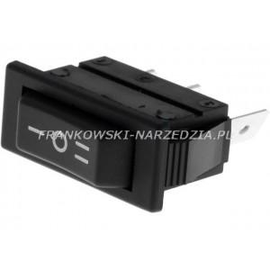 Wyłącznik klawiszowy opalarki C1520AL, 3-pozycyjne, ON-OFF-ON, 16A/250VAC, wymiary otworu montażowego 30x11mm