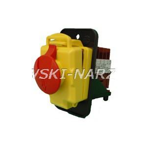 Wyłącznik zanikonapięciowy cewka 230V / AC3-4kW, AC1-11kW, IP55, Tripus, 20P0400, klapka STOP, zamiennik Kedu KJD17B-4