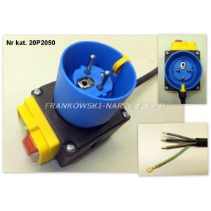 Wyłącznik zanikonapięciowy cewka 230V / AC3-3kW, AC1-6kW, IP54, z wtyczką, Tripus, 20P2050, typ. KSVSW23..1