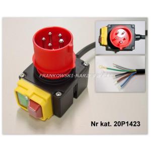 Wyłącznik zanikonapięciowy cewka 400V, AC3-4kW, AC1-11kW, IP54, z wtyczką 3P+N+Z, 20P1423, typ. KSVSD40R.1