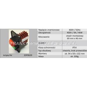 Wyłącznik zanikonapięciowy cewka 400V, AC3-4kW, AC1-11kW, IP54, Tripus, 20P0629, typ.EBESD40.01