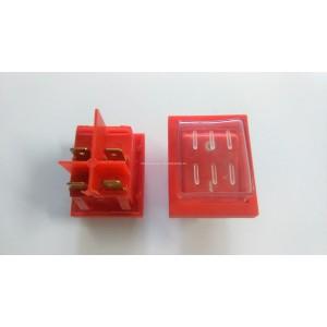 Wyłącznik klawiszowy DKP-6/2, łączenie ON-OFF, wym, 22x31mm, 6A /250V z osłonką na klawisz, C-012, B2-0031/01