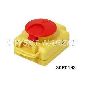 Nakładka na wyłącznik zanikonapięciowy klapka STOP z blokadą, Tripus, 30P0193