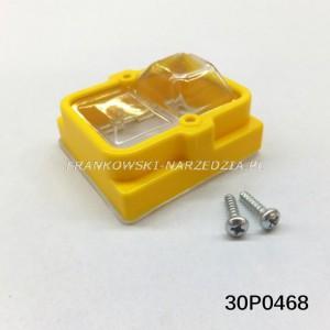 Nakładka na wyłącznik zanikonapięciowy osłona bryzgoszczelna przycisków zółta, Tripus, 30P0468