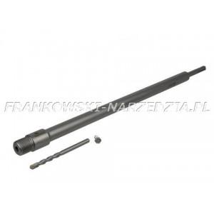 Adapter SDS-PLUS 350mm do koronek z gwintem M22, przejście z SDS-PLUS na M22