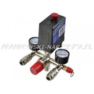 WYŁĄCZNIK CIŚNIENIOWY PRESOSTAT 230V , reduktor, 2,zegary i złącza, max 240V, 15A, 12 BAR