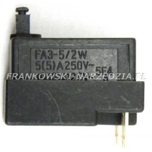 Wyłącznik szlifierki FA3-5/2W, HlT-125B 6A, wciśnięty-wyłączony
