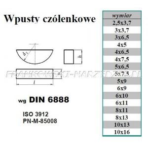 KLIN 4x9x13mm CZÓŁENKOWY, indeks- 254001-2