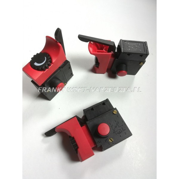 Wyłącznik wiertarki FA2-6/1BEK, 6A 250V, klawisz 19x37mm do TDW850 ,TDW550, TDW710, TDW1050, TDW1200
