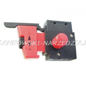 Wyłącznik wiertarki FA2-4/1BEK lub FA2-6/1BEK 4A, klawisz wyłącznika o wymiarach: 12X33mm