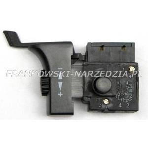 Wyłącznik wiertarki FA2-6/1BEK, 6A, P/L, klawisz wyłącznika 18,5x43mm, obsadzenie przycisku blokady owalne 12,5x14,5mm