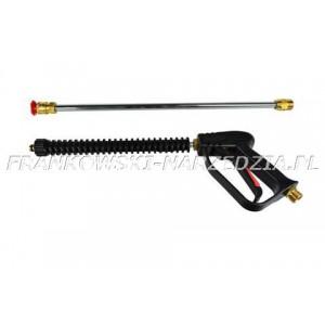 MYJKA - Pistolet z lancą do myjki wysokociśnieniowej, wyposażony w dyszę 0°, gwint M22, 25L/MIN, MAX 280BAR, 150°C