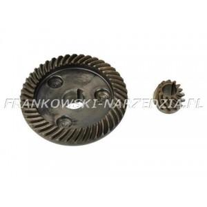 Przekładnia szlifierki 230mm duże koło 15/74mm Z-44, małe fi 10mm, Z-12