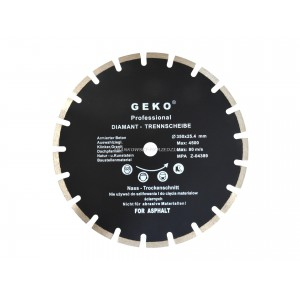 Tarcz diamentowa 350mm segmentowa, 350x10X25,4mm CZARNA, Asfalt, świeży beton