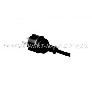 Przewód zasilający 2x2,5mm2, długość 4,0m, H05RR-F, gumowy z wtyczką prostą IP44, do elektronarzędzi