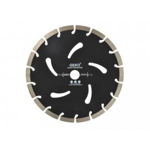Tarcz diamentowa 230mm segmentowa, czarna 230x10X22,2mm GEKO
