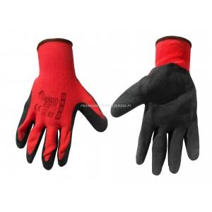 BHP -Rękawice robocze powlekane lateksem (czerwono-czarne) roz. 9