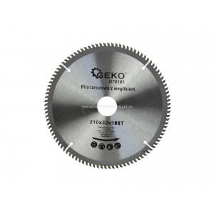Piła tarczowa 210mm, Z-100, do aluminium z widią, otwór 32mm + redukcje na 30/ 25,4 mm