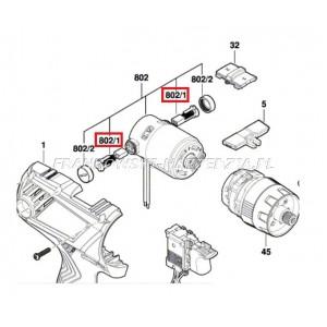"""Bosch Szczotka GSR 180-LI, 4x8x11 (SCHODEK 4,8x8x11) SPRĘŻYNA BLASZKA """"U"""", Indeks: 1607000CZ1"""