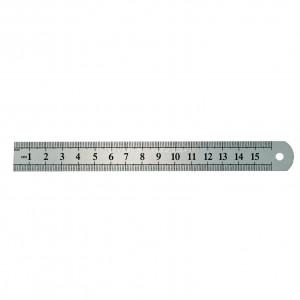 PRZYMIAR STALOWY 30cm, SZTYWNY, DWUSTRONNIE SKALOWANY 300*26mm