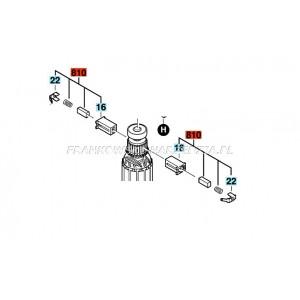 Bosch SZCZOTKA 4,8x6,3x12mm sprężynka ze szczotkotrzymaczami, do GEX125-1, GSS 140... indeks- 2609120199
