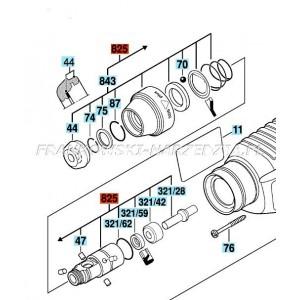 Bosch Uchwyt- tuleja - Oryginala do GBH 2-26 DRE, GBH 2400 ..., (UCHWYT) za 1-617-000-580, indeks- 1617000598