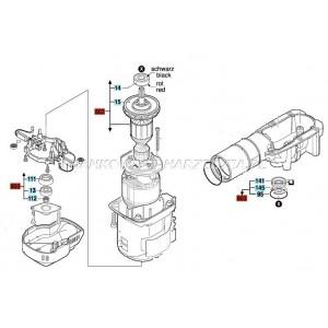 Bosch Wirnik do GBH 5-40, GSH 5, w komplecie z łożyskami, część oryginalna Bosch, indeks - 1614011098