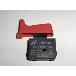 Wyłącznik SW-K12 , 6 A 250V, klawisz wyłącznika 15x46mm